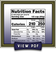Click to view Berry Delight nutrition facts PDF