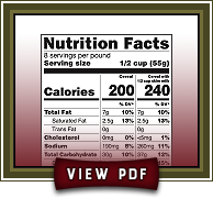 Click to view Cinnamon Applesauce nutrition facts PDF