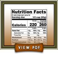 Click to view Golden Almond nutrition facts PDF
